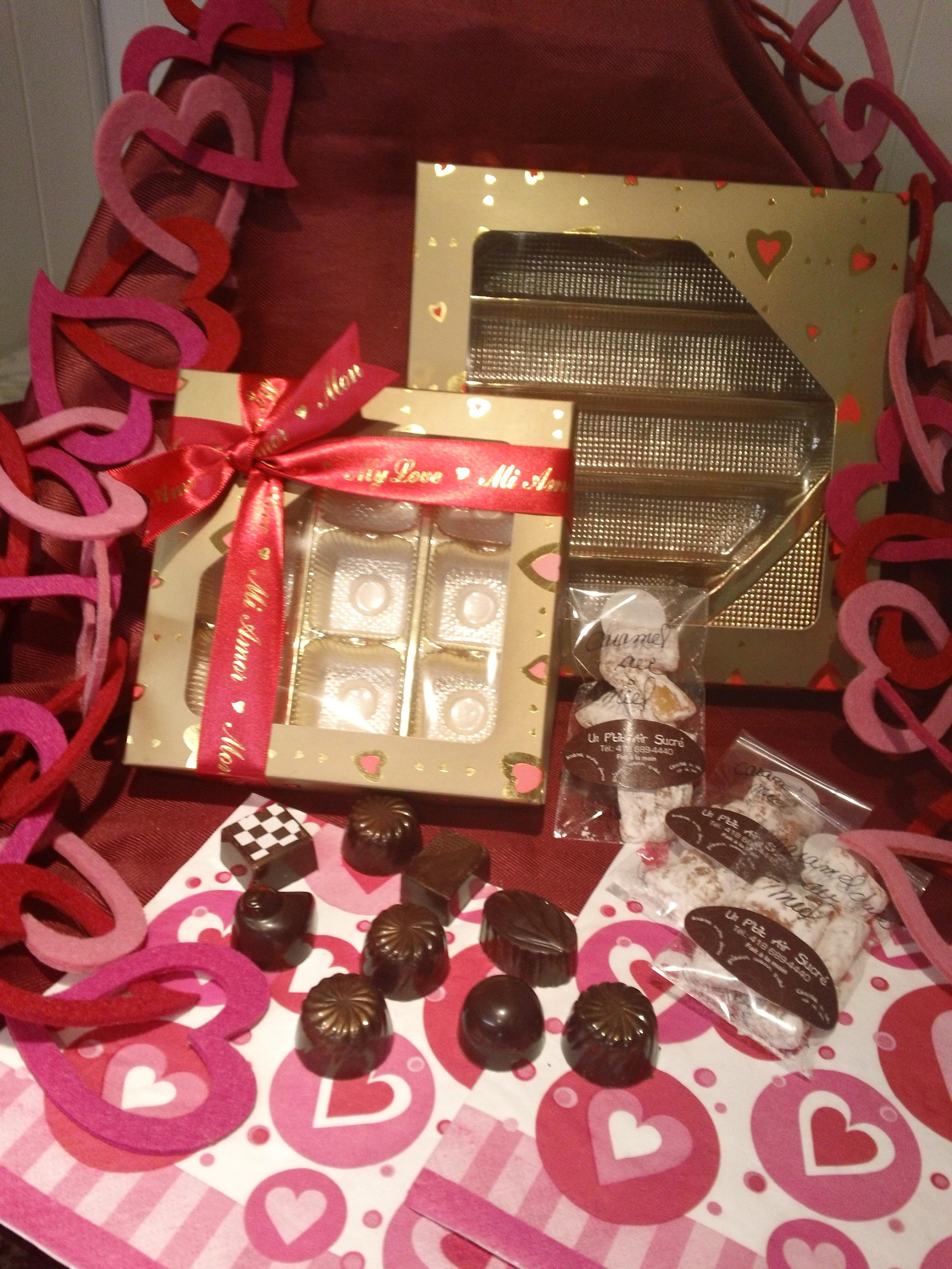 La Saint-Valentin  et le chocolat - combinaison sublime!